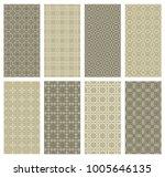 set of vertical seamless line... | Shutterstock .eps vector #1005646135