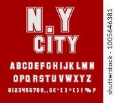vector set of handwritten abc... | Shutterstock .eps vector #1005646381