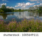 lake at ferry meadows park ... | Shutterstock . vector #1005649111