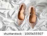 beautiful high heeled shoes on... | Shutterstock . vector #1005655507