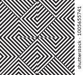 black and white geometric...   Shutterstock .eps vector #1005655741