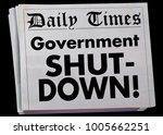 government shut down newspaper... | Shutterstock . vector #1005662251
