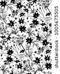 vector seamless floral pattern... | Shutterstock .eps vector #1005675505