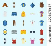 icons set about man clothes.... | Shutterstock .eps vector #1005675697