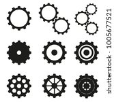 cogwheels set icons | Shutterstock .eps vector #1005677521