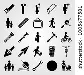 tools icon set vector. son ... | Shutterstock .eps vector #1005677581