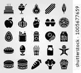 food and drinks icon set vector.... | Shutterstock .eps vector #1005677659
