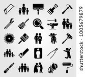 tools icon set vector. paint... | Shutterstock .eps vector #1005679879