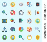 icons set about marketing. with ...   Shutterstock .eps vector #1005682714