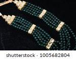 kundan jewelry   closeup image...   Shutterstock . vector #1005682804