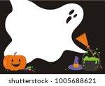 halloween ghost  pumpkin ... | Shutterstock .eps vector #1005688621