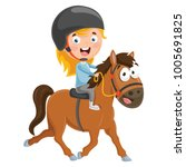 vector illustration of kid... | Shutterstock .eps vector #1005691825