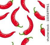 chili pepper seamless pattern....   Shutterstock .eps vector #1005699961