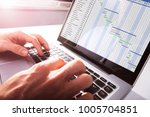 close up of businessman's hands ... | Shutterstock . vector #1005704851