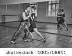 beautiful couple dancing tango | Shutterstock . vector #1005708811