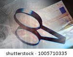 business concept. magnifying... | Shutterstock . vector #1005710335