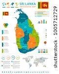 sri lanka infographic map and... | Shutterstock .eps vector #1005712729
