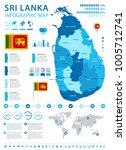 sri lanka infographic map and... | Shutterstock .eps vector #1005712741