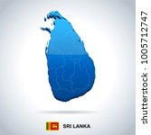 sri lanka map and flag   high... | Shutterstock .eps vector #1005712747