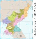 north korea map   high detailed ...   Shutterstock .eps vector #1005712774