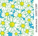 Pattern With Daisies