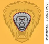 gorilla mascot vector head logo ... | Shutterstock .eps vector #1005714979