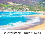 beach at the mediterranean sea... | Shutterstock . vector #1005726361