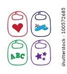 baby bibs vectors   Shutterstock .eps vector #100572685