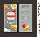 breakfast hand drawn menu... | Shutterstock .eps vector #1005727147