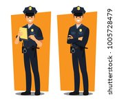 police officers   vector... | Shutterstock .eps vector #1005728479