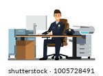 police officers office  police... | Shutterstock .eps vector #1005728491