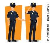 police officers   vector... | Shutterstock .eps vector #1005728497
