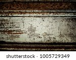 old plank wooden wall... | Shutterstock . vector #1005729349