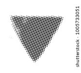 triangle halftone style on... | Shutterstock .eps vector #1005733051