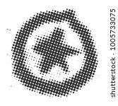 star in the circle of halftone... | Shutterstock .eps vector #1005733075