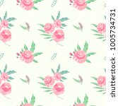 seamless pattern with pink... | Shutterstock .eps vector #1005734731