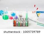 the material scientist pipette...   Shutterstock . vector #1005739789
