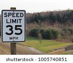 speed limit 35 overlooking rows ... | Shutterstock . vector #1005740851