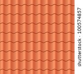 seamless terracota roof tile  ... | Shutterstock .eps vector #100574857