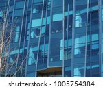 the modern skyscraper buildings ... | Shutterstock . vector #1005754384
