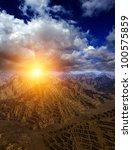 3d fantasy landscape | Shutterstock . vector #100575859