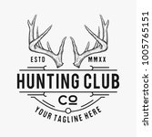 hunting club logo vector  hand... | Shutterstock .eps vector #1005765151