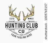 hunting club logo vector  hand... | Shutterstock .eps vector #1005765157