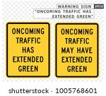 road sign. warning. oncoming... | Shutterstock .eps vector #1005768601