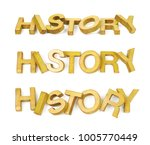 word history made of colored...   Shutterstock . vector #1005770449