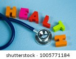 text healthy alphabet with... | Shutterstock . vector #1005771184