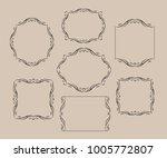 elegant frame.vector... | Shutterstock .eps vector #1005772807