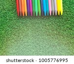 multi colors of pencils on...   Shutterstock . vector #1005776995