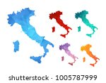 variety color polygon map on... | Shutterstock .eps vector #1005787999