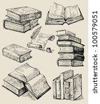 books stack | Shutterstock .eps vector #100579051